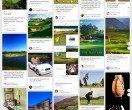 Esempio di Moodboard per associazione di golf - Pinterest