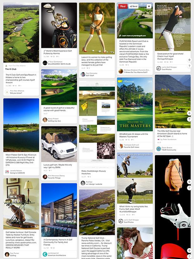 Esempio di Moodboard per associazione di golf