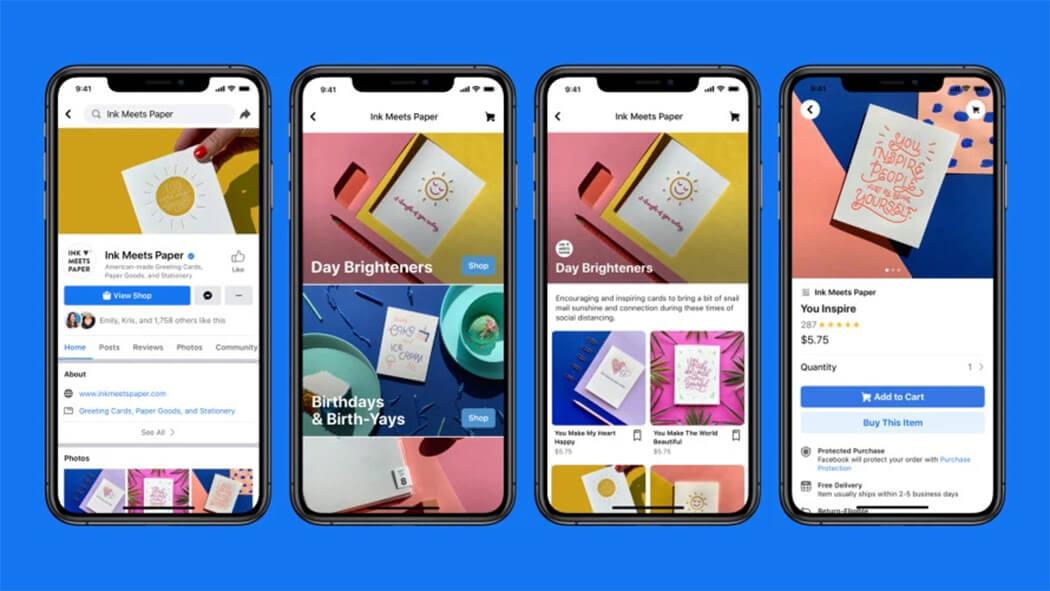 Facebook shops: la nuova funzionalità